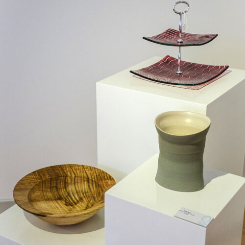 BREAKFAST, DINNER & TEA 2012 Cake plate by Eva Kelly bowl by Glenn Lucas & vase by Sun Kim blue egg gallery wexford