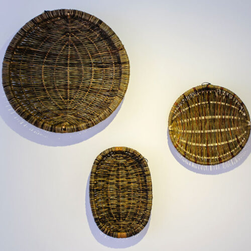 BREAKFAST, DINNER & TEA 2012Framed baskets by Alison Fitzgerald blue egg gallery wexford