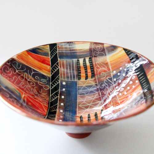 HOME 20111 Decorated bowl by Etain Hickey blue egg gallery wexford