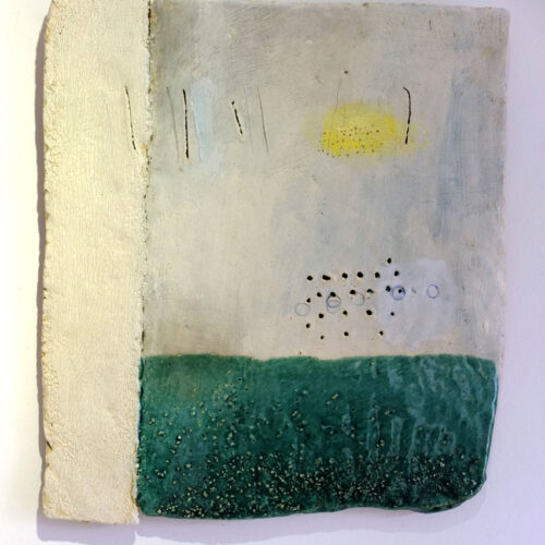 LAND MARKS 2013 Ceramic plaque by Craig Underhill blue egg gallery wexford