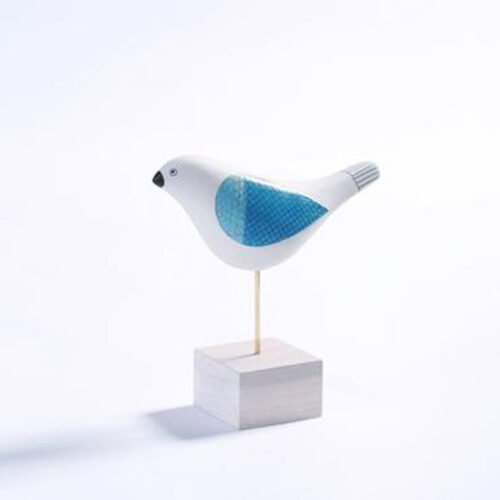 Michele Hannan song bird on stand blue egg gallery wexford
