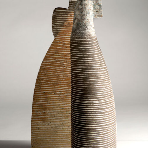 Petra Bittl Large stoneware vessels blue egg gallery wexford