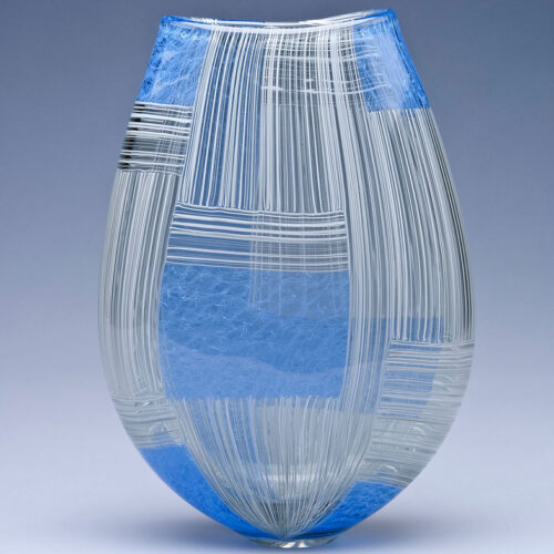 Scott Benefield Vase Tapestry series blue egg gallery wexford