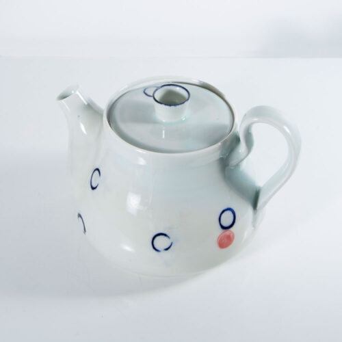 TEAPOTS 2016 Porcelain teapot by Adam Frew (Photo by Grace-Hall) blue egg gallery wexford
