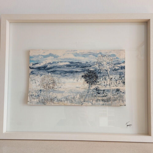 Tamaru Hunt-Joshi Ceramic Landscape no 6 blue egg gallery wexford