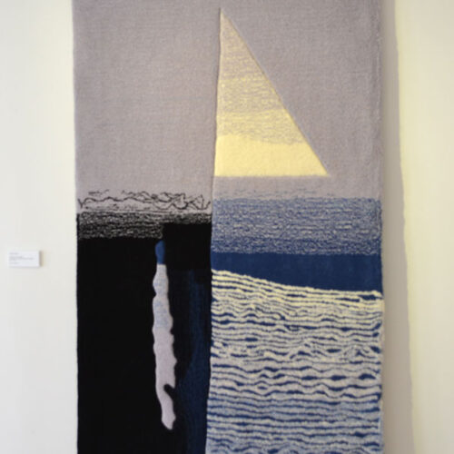 WOVEN INTO MEMORY 2013 Intonations of Sea breezes tapestry by Patricia Murphy blue egg gallery wexford