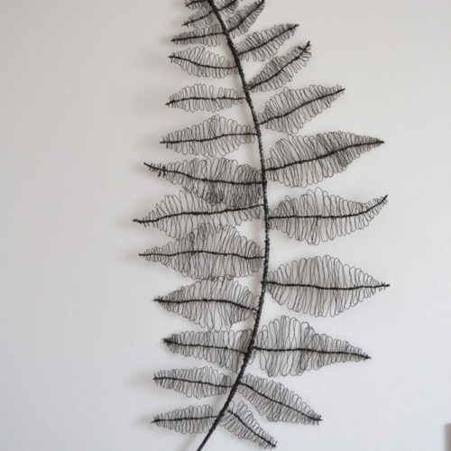WOVEN INTO MEMORY 2013 Wire fern by Magda Rubalcava blue egg gallery wexford