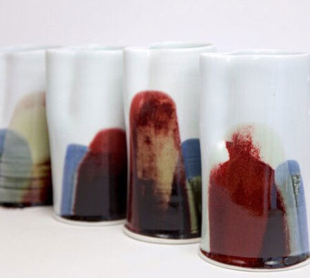 Markus Jungmann Porcelain jugs from Earth, Fire and Water series featured