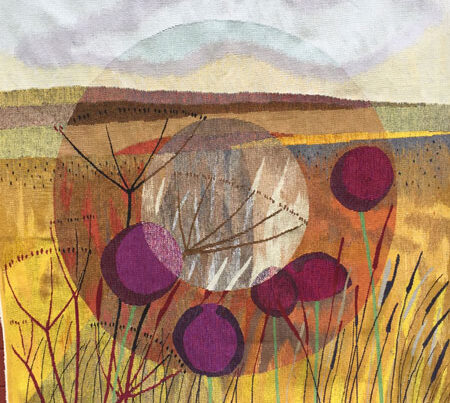 Terry Dunne Focus Refocus-Woven tapestry 150cms featured blue egg gallery wexford